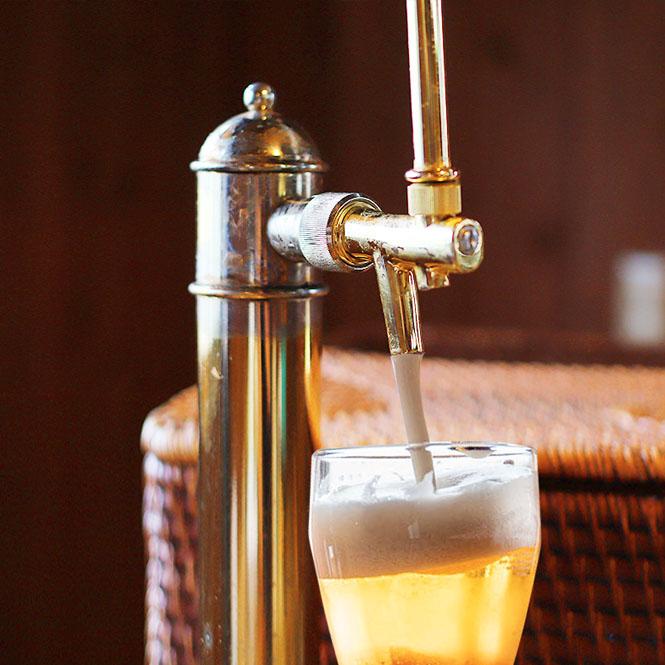 風呂上がりのビールもお楽しみ下さい