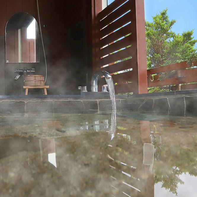 大自然に囲まれた開放感ある露天風呂